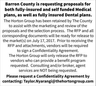 Requesting proposals