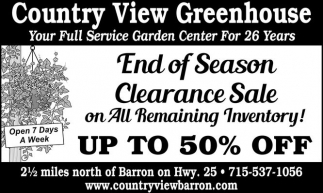 End of Season Clearance Sale