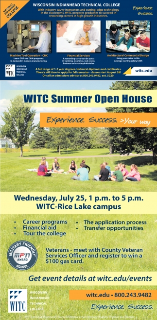WITC Summrt Open House