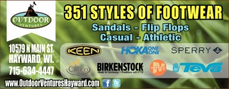 351 Styles of Footwear