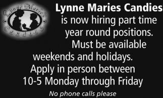Hiring Part Time Year Round Positions