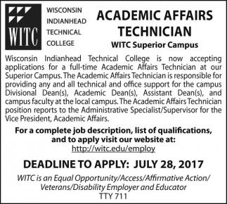 Academic Affairs Technician