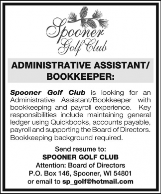 spooner golf club jobs ads from spooner advocate. Resume Example. Resume CV Cover Letter