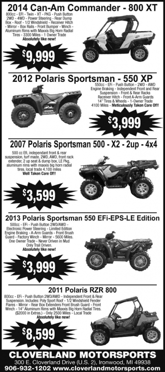 2014 Can-Am Commander - 800 XT
