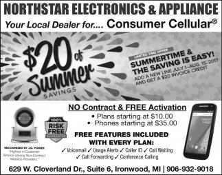 $20 off summer savings