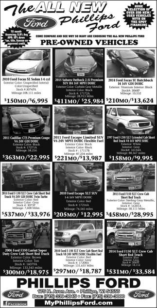 Pre--Owned Vehicles