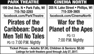 Pirates of the Caribbean: Dead Men No Tales / War for the Planet of the Apes