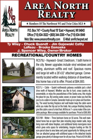 Recreational / Country Homes