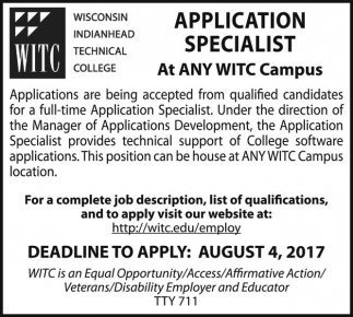 Application Specialist