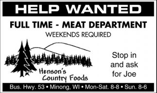 Meat Department
