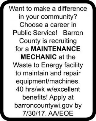 Maintenance - Mechanic