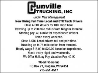 Local and OTR Truck Drivers