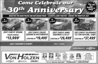 30th Anniversary Sale