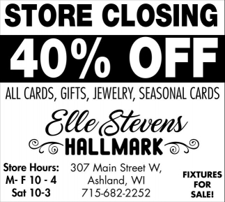 Store Closing 40% off