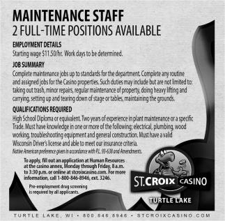 Maintenance Staff