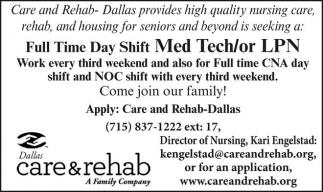 Med Tech / LPN