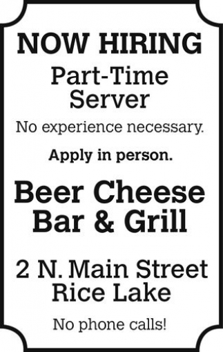 Part-Time Server