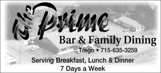 Serving Breakfast, Lunch & Dinner 7 Days a Week
