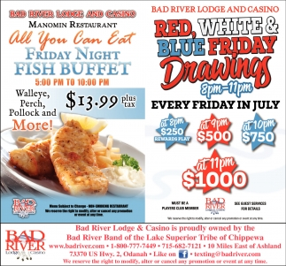 Manomin Restaurant: Friday Night Fish Buffet