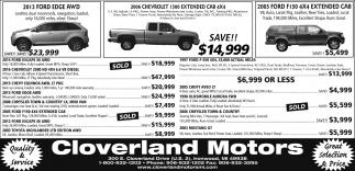 Ford, Chevrolet