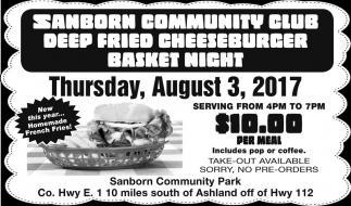 Deep Fried Cheeseburger Basket Night