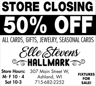 Store Closing 50% off