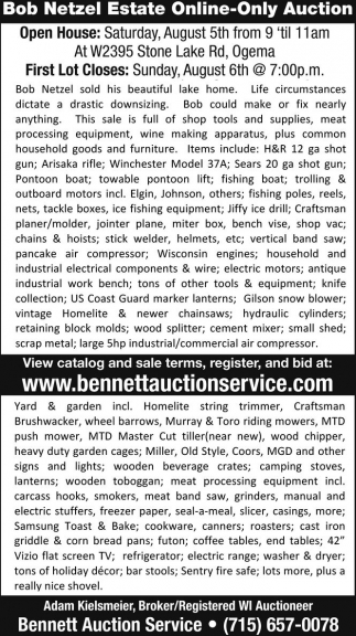 Bob Netzel Estate Online-Only Auction
