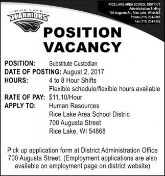 Position Vacancy