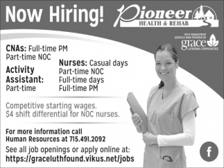 CNAs, Activity Assistant