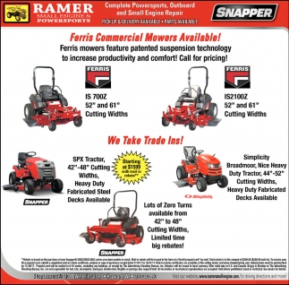 Ferris Commercial Mowers Available, Ramer Small Engine and
