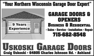 Your Northern Wisconsin Garage Door Expert