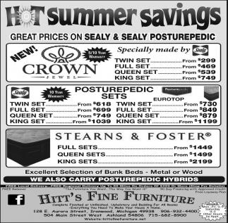 Hot Summer Savings