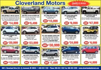 Vehicles, Quality & Service