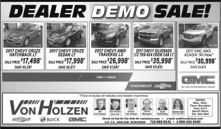 Dealer Demo Sale