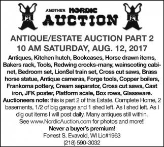 Antique / Estate Auction Part 2