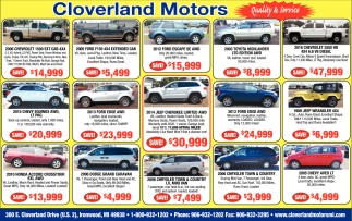 Vehicles, Quality & Services