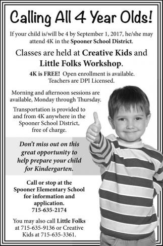 Creative Kids and Little Folks Workshop