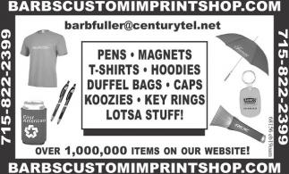 Pens, Magnets, T-Shirts, Hoodies, Duffel Bags, Caps, Koozies, Key Rings