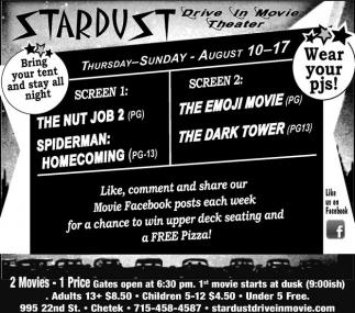 The Nut Job 2, Spiderman Homecoming - The Emoji Movie, The Dark Tower