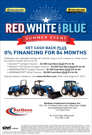 Red, White and Blue Summer Event