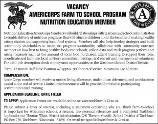 Nutrition Education Member
