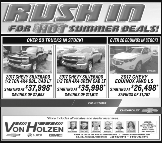 Rush In for Hot Summer Deals