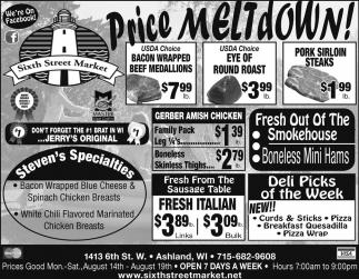 Price Meltdown!