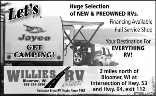 Huge Selection of New & Preowned RVs
