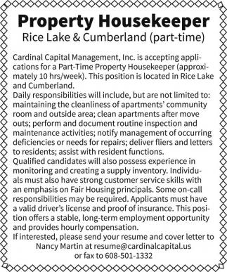 Property Housekeeper