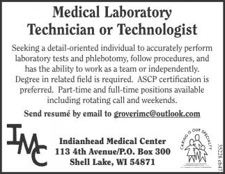 Medical Laboratory Technician or Technologist