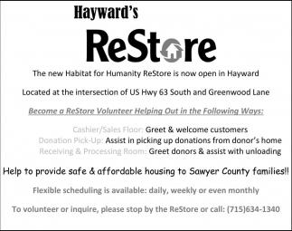 Hayward's ReStore
