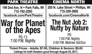 War for Planet of the Apes / The Nut Job 2