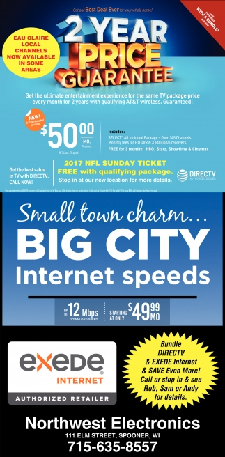 Small town charm Big City Internet speeds