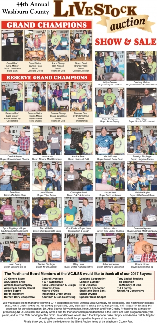 44th Annual Washburn County Livestock auction